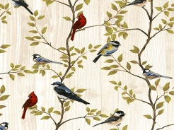 3902-711 Ptáčci na větvích -