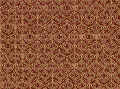4596-408 Ornamenty na tm. červeném podkladu -