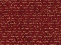 4596-412 Písmo na tm. červeném podkladu -