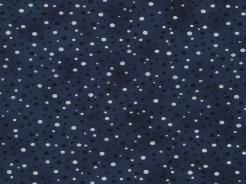 4596-608 Puntíky na tm. modrém podkladu -