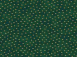 4596-804 Hvězdičky na tm. zeleném podkladu -