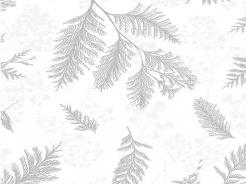 3902-661 Šedé větvičky na bílé -