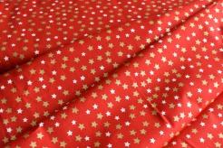131514-5019 Hvězdičky na červeném podkladu -