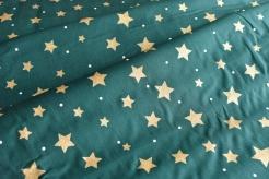 131511-5031 Hvězdičky na zeleném podkladu - Glitr