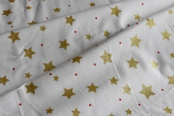 131511-5004 Hvězdičky na smetanovém podkladu - Glitr