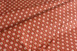 131460-5019 Hvězdičky v mozaice na červeném podkladu - Glitr
