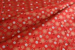 131456-5019 Sněhové vločky na červeném podkladu -