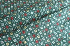 131455-5031 Vánoční motiv na zeleném podkladu -