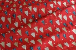 131459-5019 Stromečky na červeném podkladu - Glitr