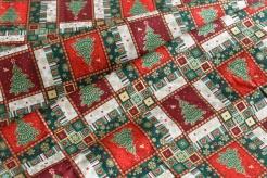 131457-0801 Vánoční dlaždice - stromečky -