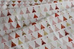 131505-5004 Vánoční stromečky na smetanovém podkladu -