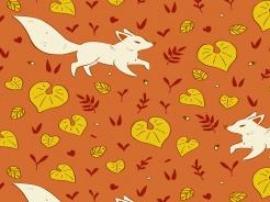 2506-136 Lišky na skořicové -
