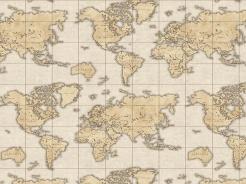 2506-290 Mapa světa na béžové -