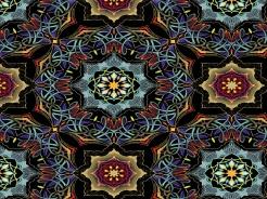2506-325 Mandala na černé -