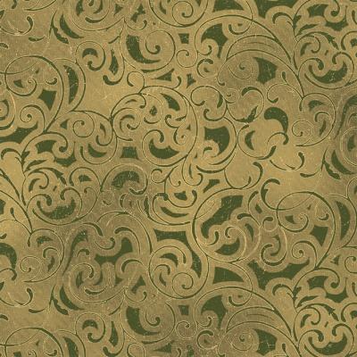 Látky Patchwork - Ornamenty na zelené
