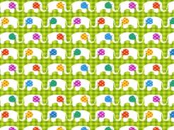 807-236 Divočina sloni na zelené -