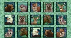 807-248 Lesní zvířata - panel -