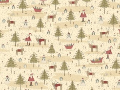4790-541 Vánoční motiv na béžové -