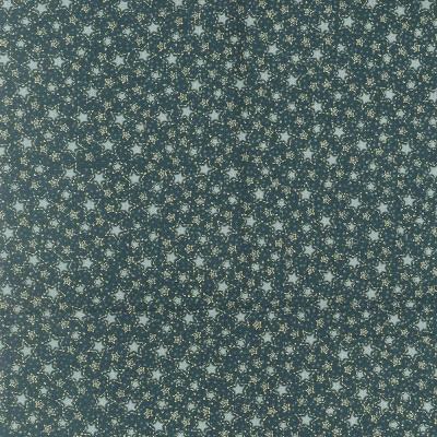 Látky Patchwork - Hvězdičky na zelené