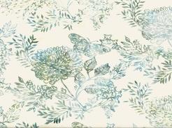 3364-104 Batika - květy na světle šedé -