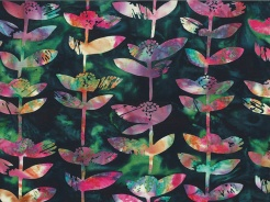 3364-709 Batika - rostlinky na tmavé -