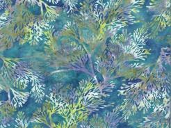 3364-716 Batika - větvičky na modré -