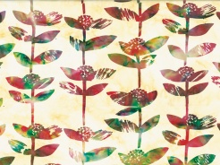 3364-723 Batika - rostlinky na sv. oranžové -