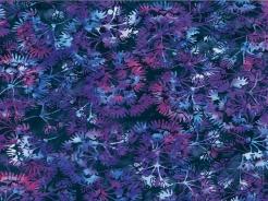3364-730 Batika - rostliny na modré -