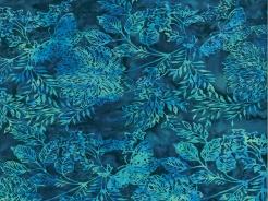 3364-734 Batika - rostlinky na modré -