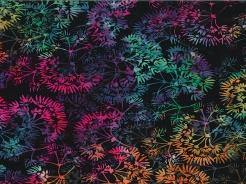 3364-735 Batika - rostlinky na černé -