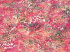 3364-737 Batika - rostlinky na růžové -