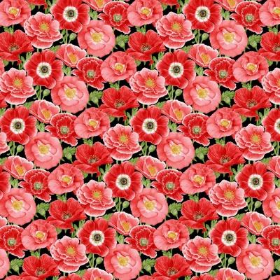 Látky Patchwork - Poppy Meadows