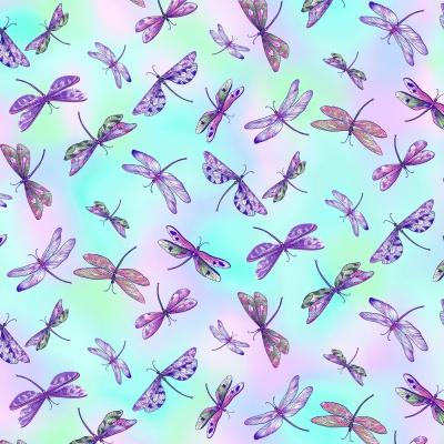 Látky Patchwork - Dragonfly Garden 166