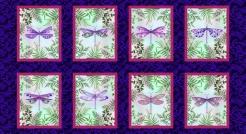 476-162 Dragonfly Garden 162 - Panel  60 cm
