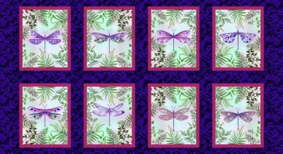 Látky Patchwork - Dragonfly Garden 162