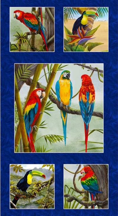 Látky Patchwork - Birds in Paradise 156