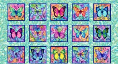 Látky Patchwork - Butterfy Paradise 430