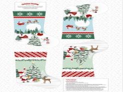 895-022 Peace and Goodwill  022 - Panel 0,76 m - vánoční punčocha