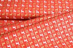 131504-5019 Sobi na červeném podkladu -  zlatotisk