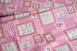 132975-5017 Zvířátka na růžovém podkladu -