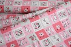 132977-5017 Zvířátka na růžovém podkladu -