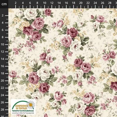 Látky Patchwork - Růže STOF 478