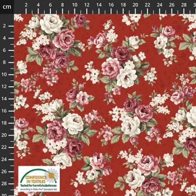 Látky Patchwork - Růže STOF 481