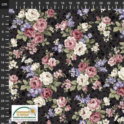 Látky Patchwork - Růže STOF 482
