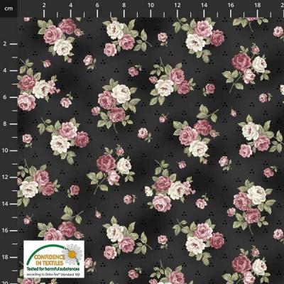 Látky Patchwork - Růže STOF 487