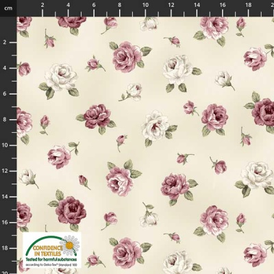 Látky Patchwork - Růže STOF 498