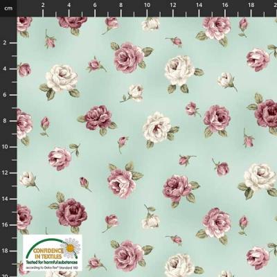 Látky Patchwork - Růže STOF 499