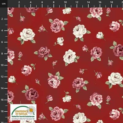 Látky Patchwork - Růže STOF 501