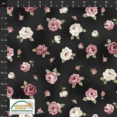 Látky Patchwork - Růže STOF 502