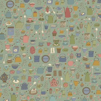 Látky Patchwork - Tealicious 100